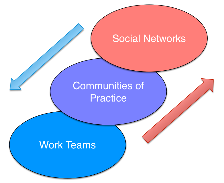 Teams, Communities, & Networks for collaboration and cooperation